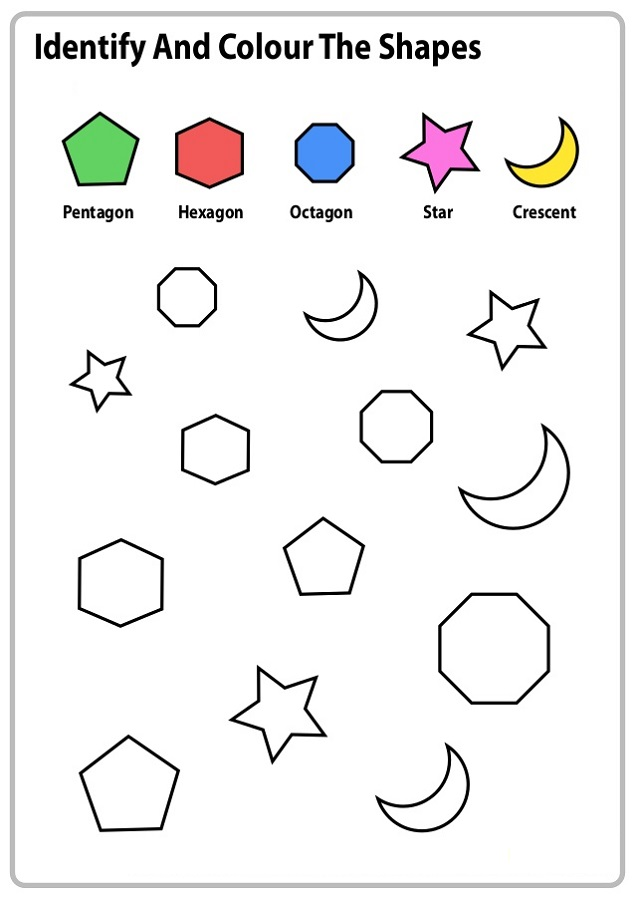 Color the Shape Worksheets | Activity Shelter
