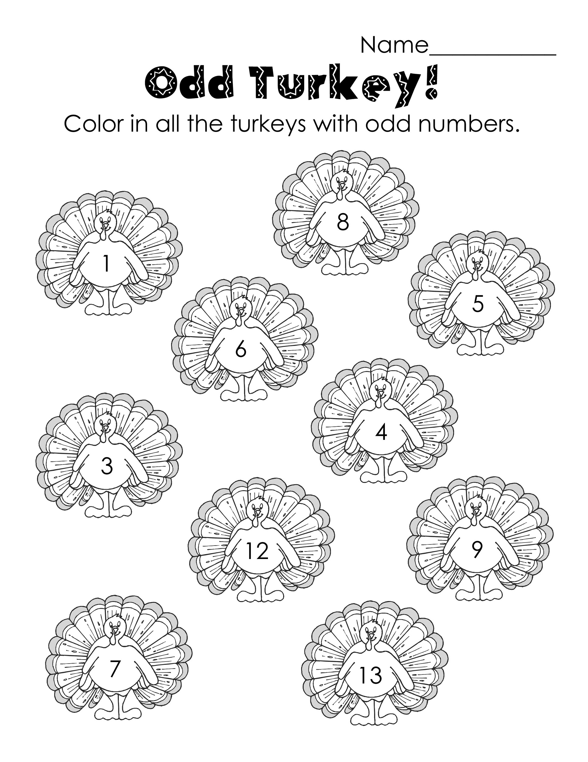 even and odd numbers worksheets print