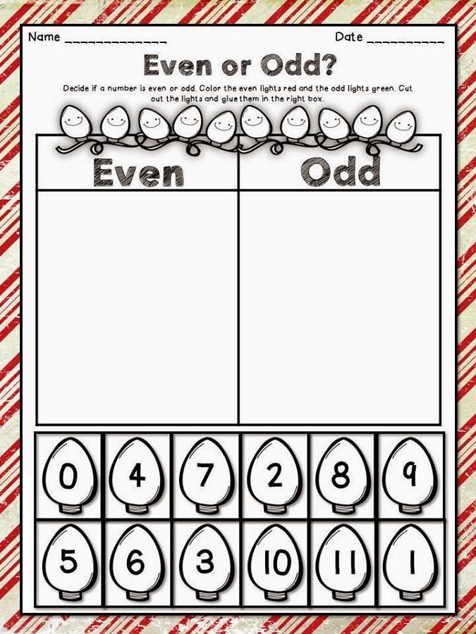 Even Odd Worksheets | Activity Shelter