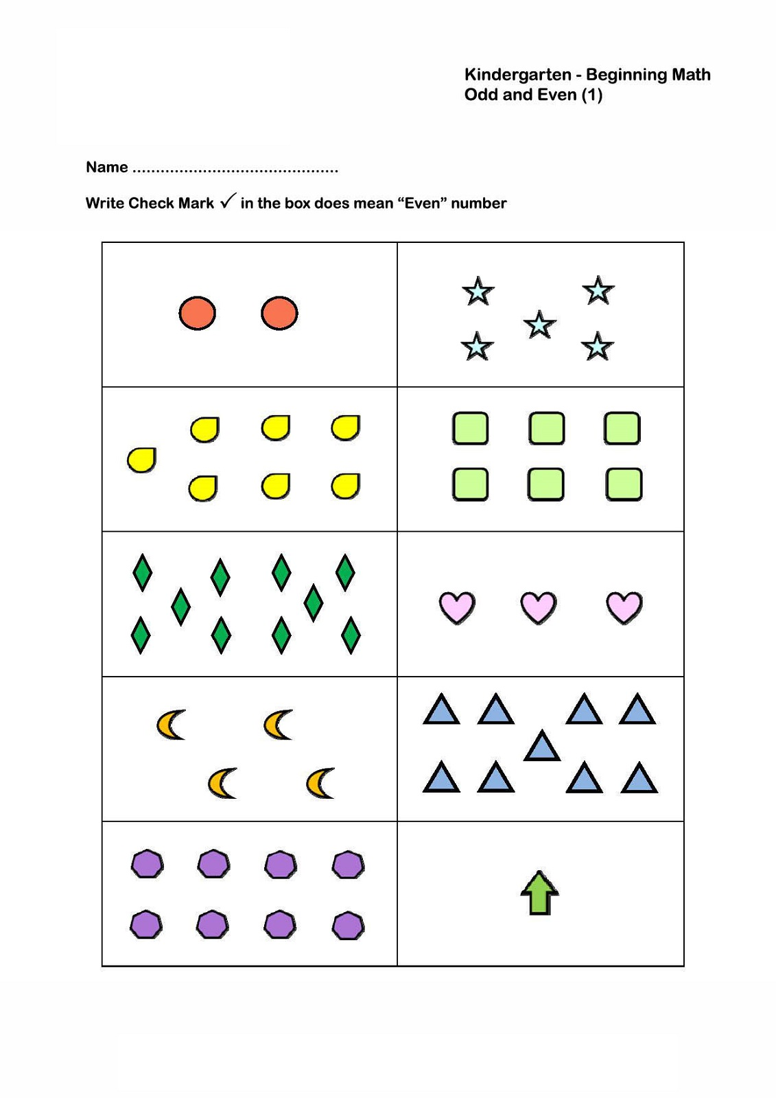 even odd worksheet kindergarten