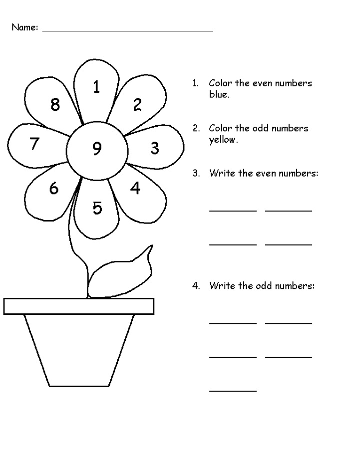 even odd worksheet printable