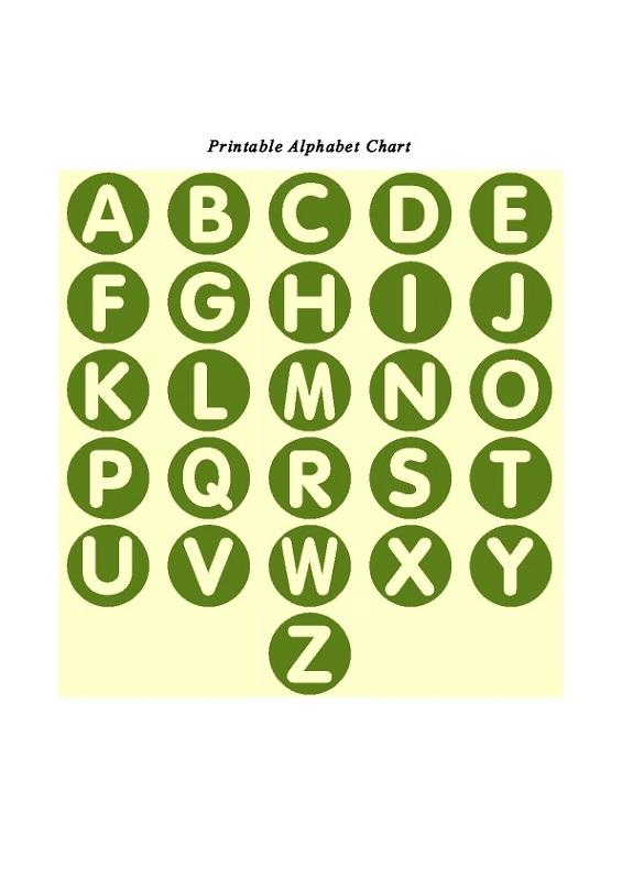 free alphabet chart circle