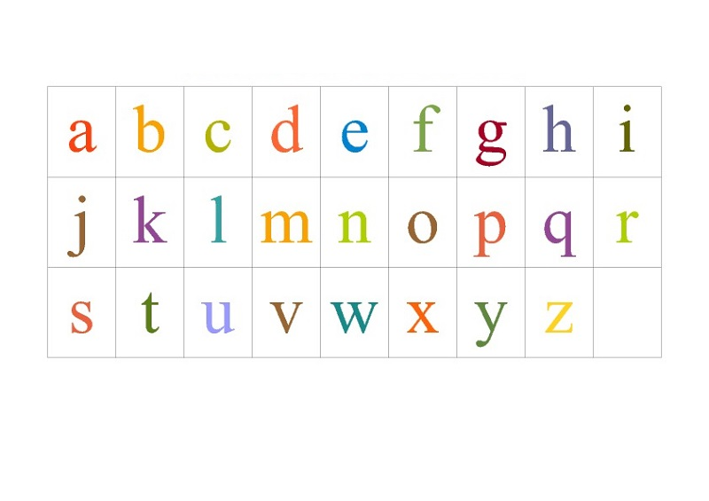 free alphabet chart in color