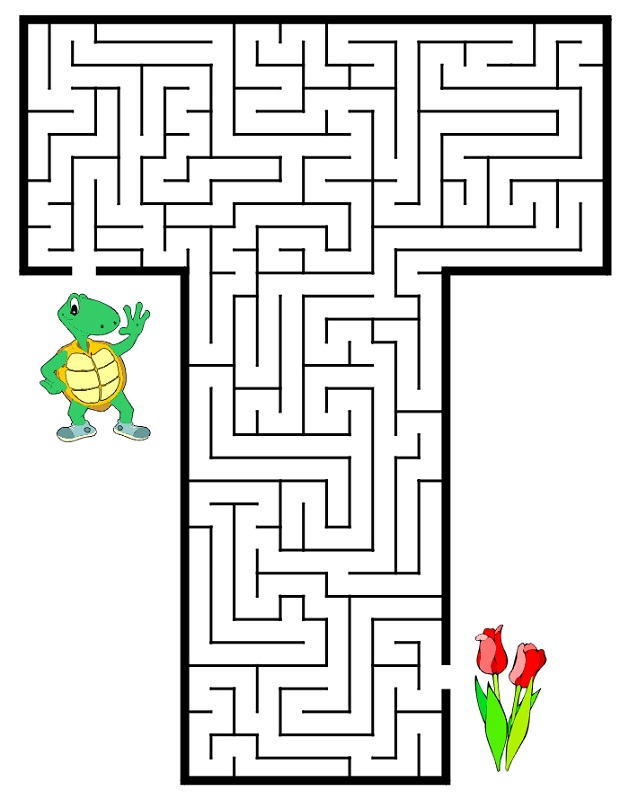 mazes for kids easy