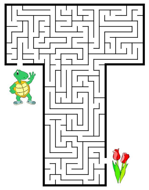 mazes for kids easy