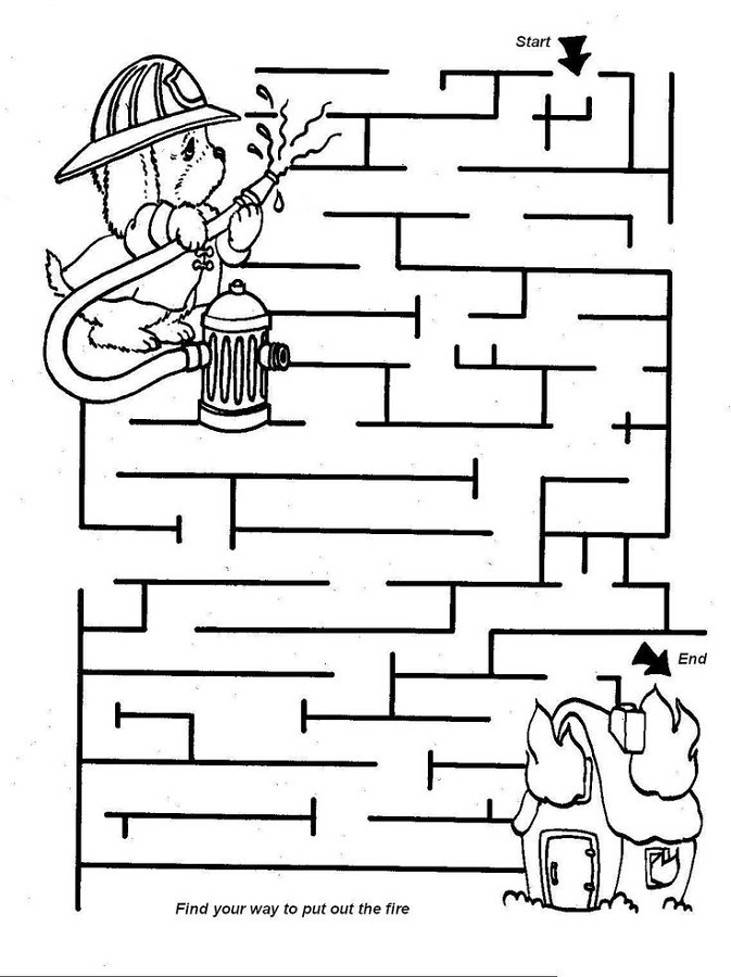 mazes for kids simple