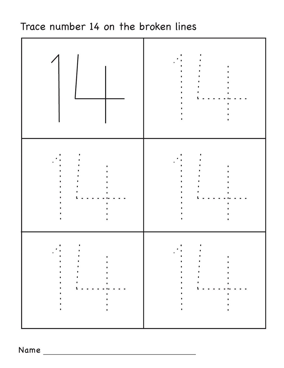 Free pre k worksheets numbers