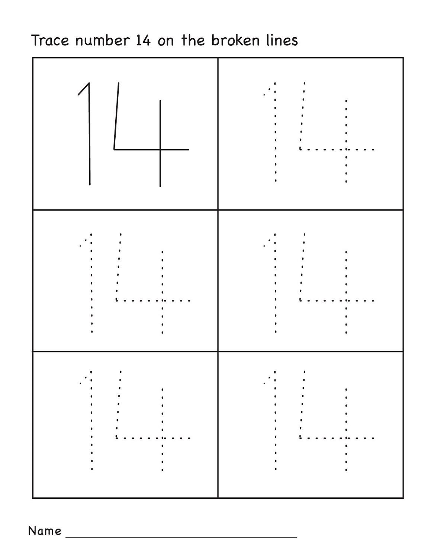 Number 14 Worksheets Printable | Activity Shelter