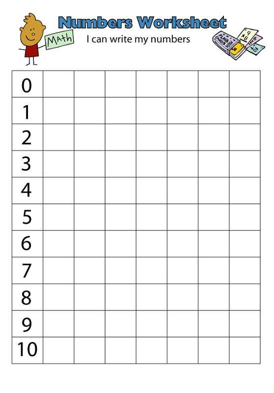 Number 110 Worksheets Printable – Numbers 1-10 Worksheets Kindergarten