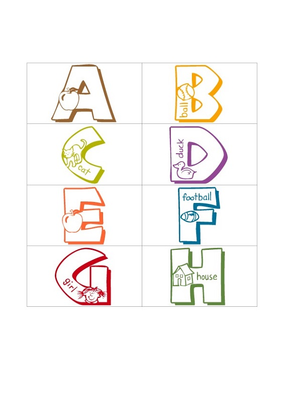 pre k letters flashcard