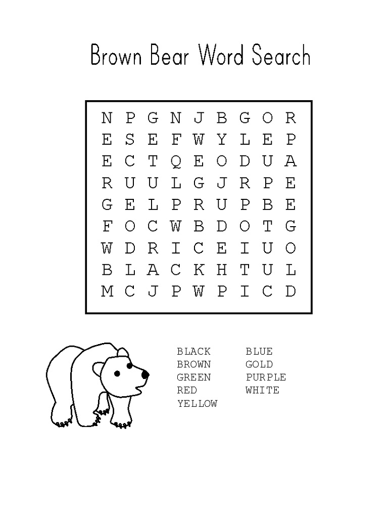 simple word searches printable