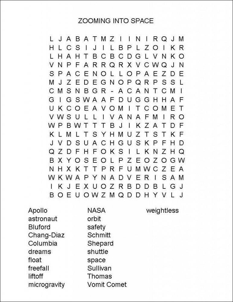 space-word-search-science
