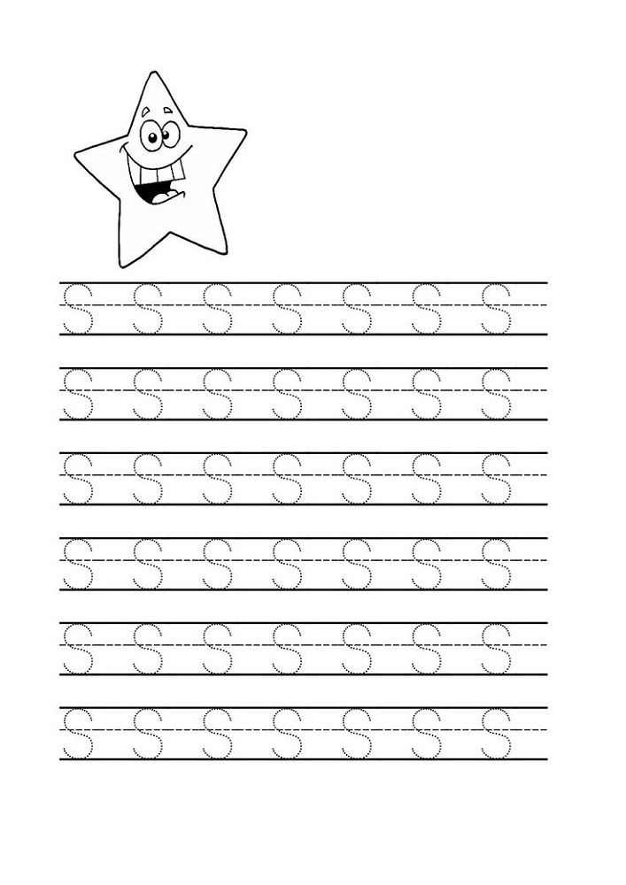 Free Trace Letter S Worksheets | Activity Shelter