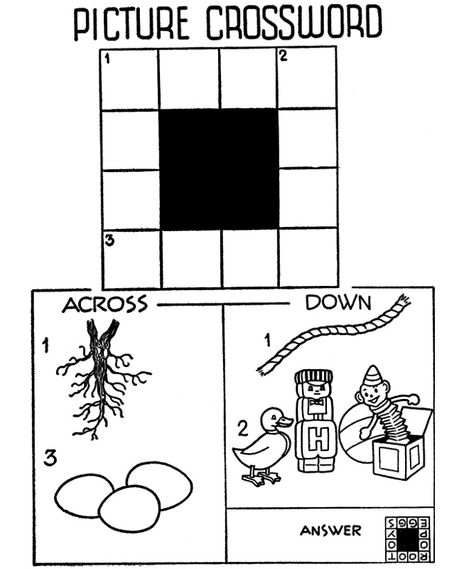 crossword puzzle kids free