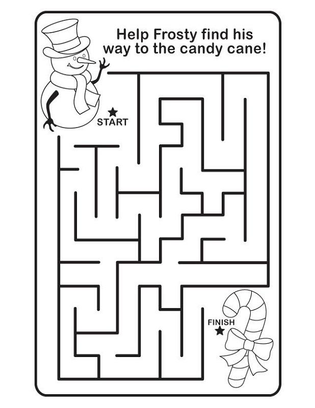 maze for children candy