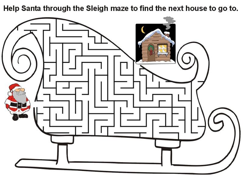 maze for children christmas