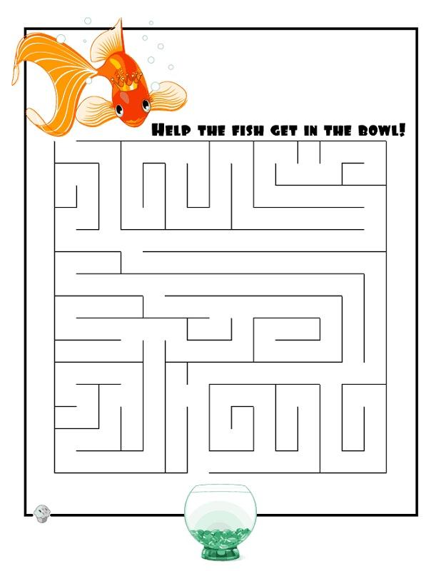 maze for children fish
