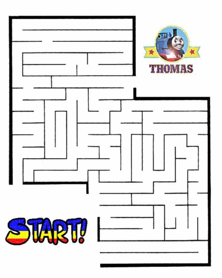 maze puzzles for kids thomas