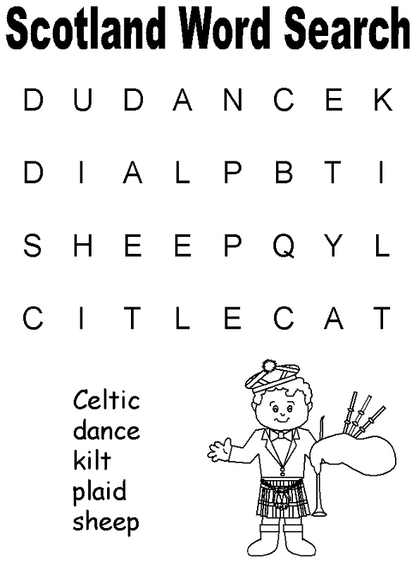 simple word search scotland