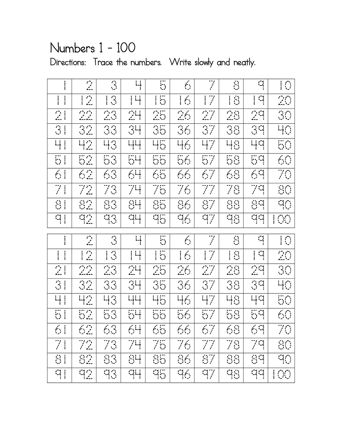 traceable numbers worksheets for kids