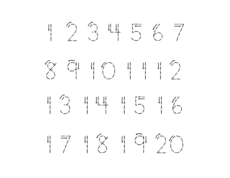 traceable numbers worksheets kindergarten