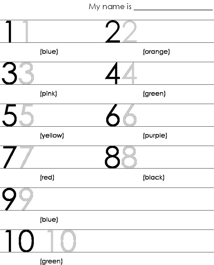 traceable numbers worksheets printable
