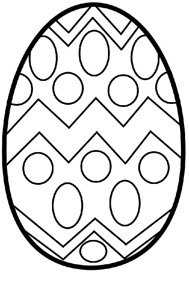 blank easter egg template children