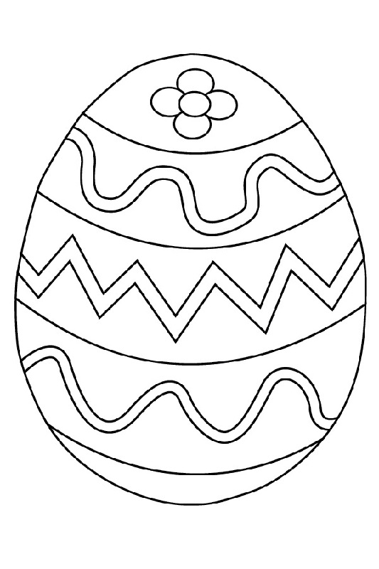 blank easter egg template flower