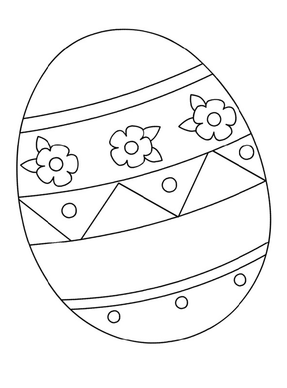 blank easter egg template for kids