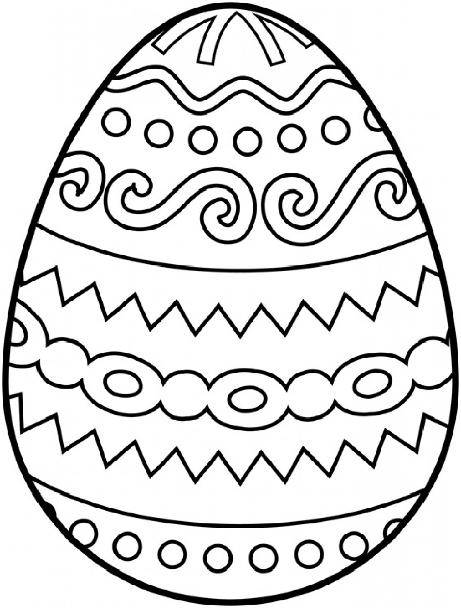 blank easter egg template free