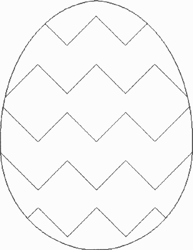 blank easter egg template printable