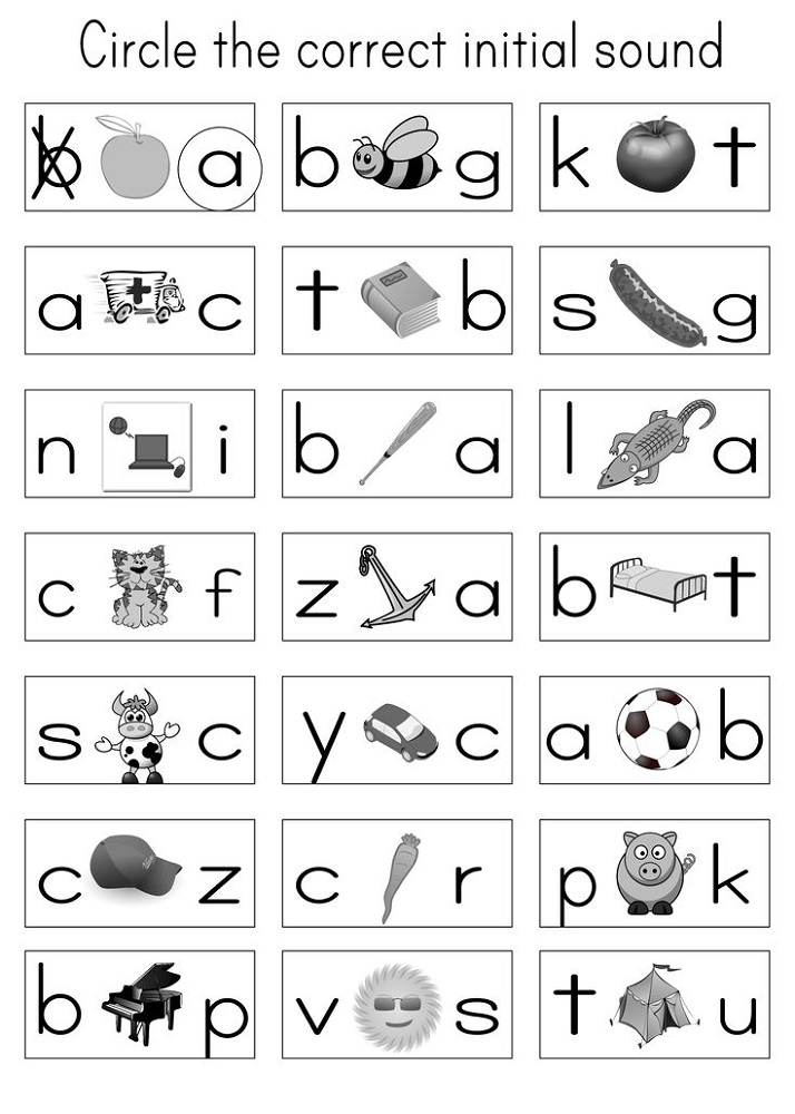 free letter worksheets circle
