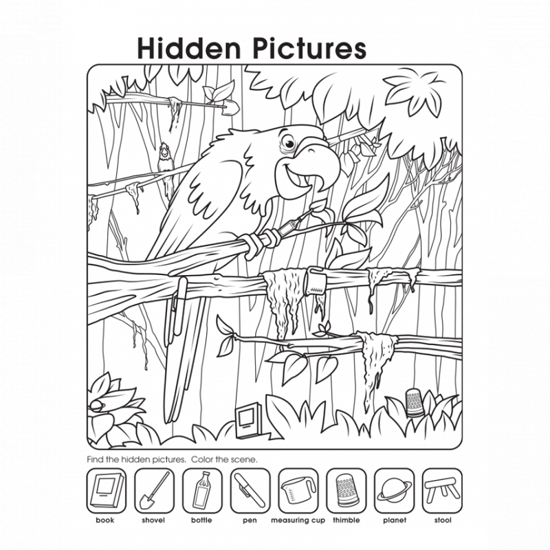 Printable Hidden Pictures Worksheets – Hidden Picture Worksheets