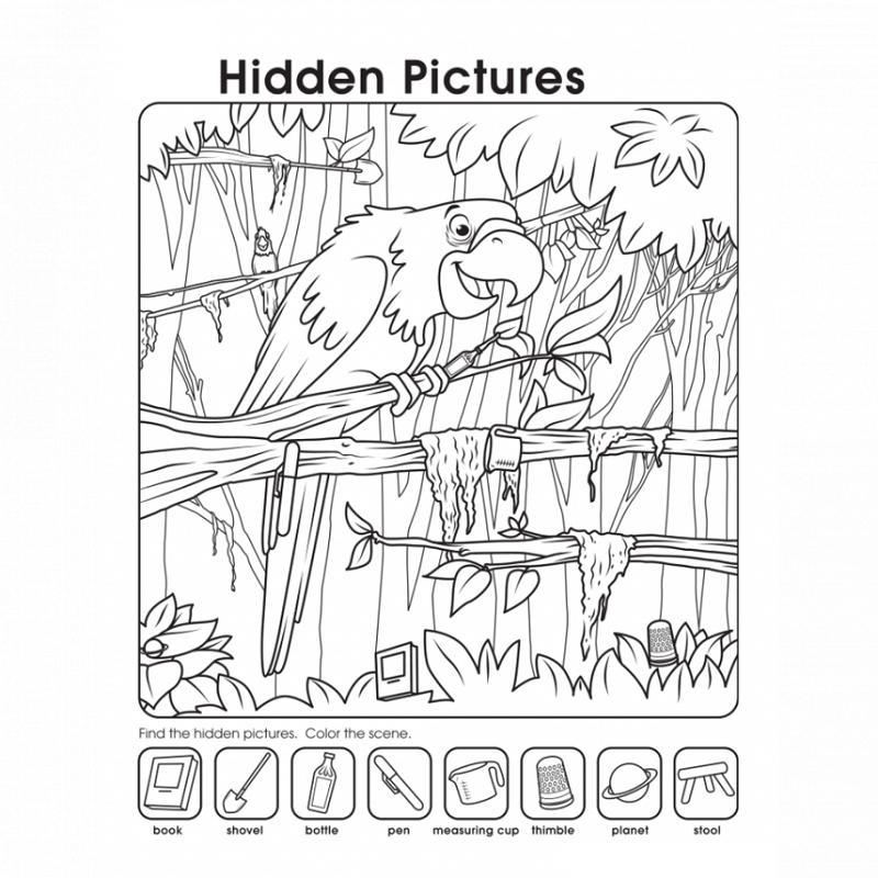 hidden pictures worksheets bird