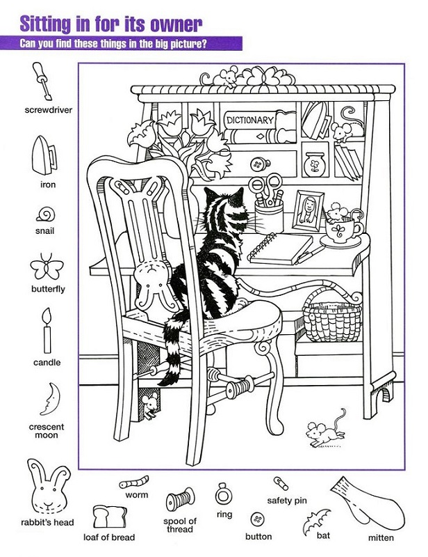 Printable Hidden Pictures Worksheets Activity Shelter