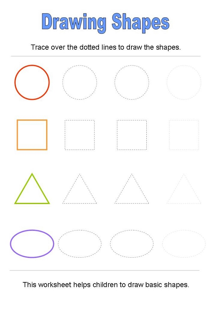 pre k shapes worksheets basic