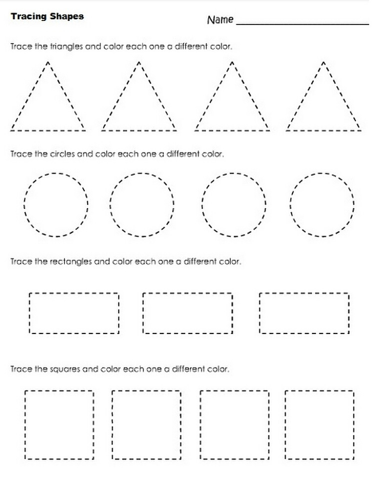 Pre K Shapes Worksheets – Free Shape Worksheets