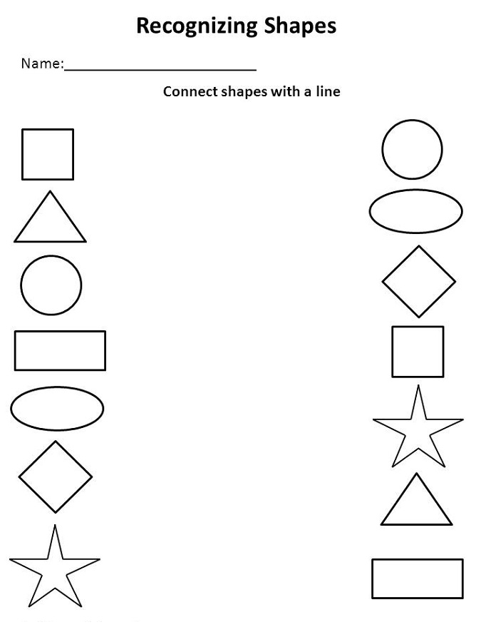 Pre K Shapes Worksheets Activity