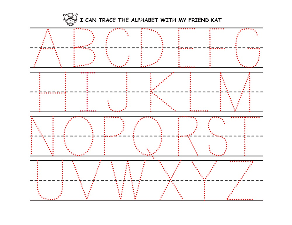 traceable alphabet worksheets a-z free
