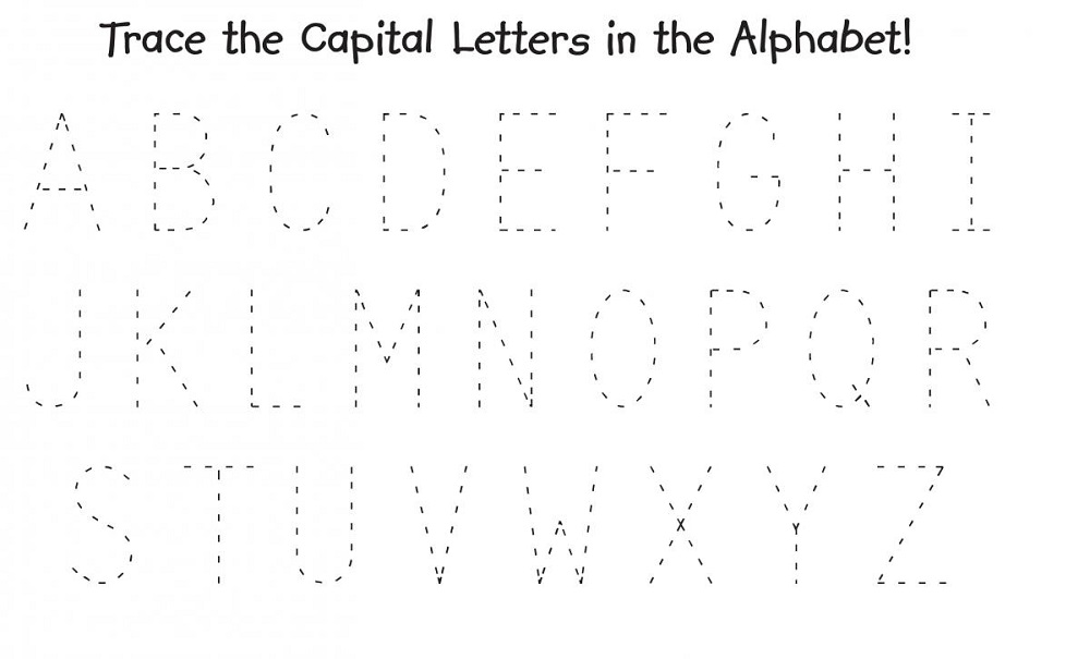 traceable alphabet worksheets a-z large