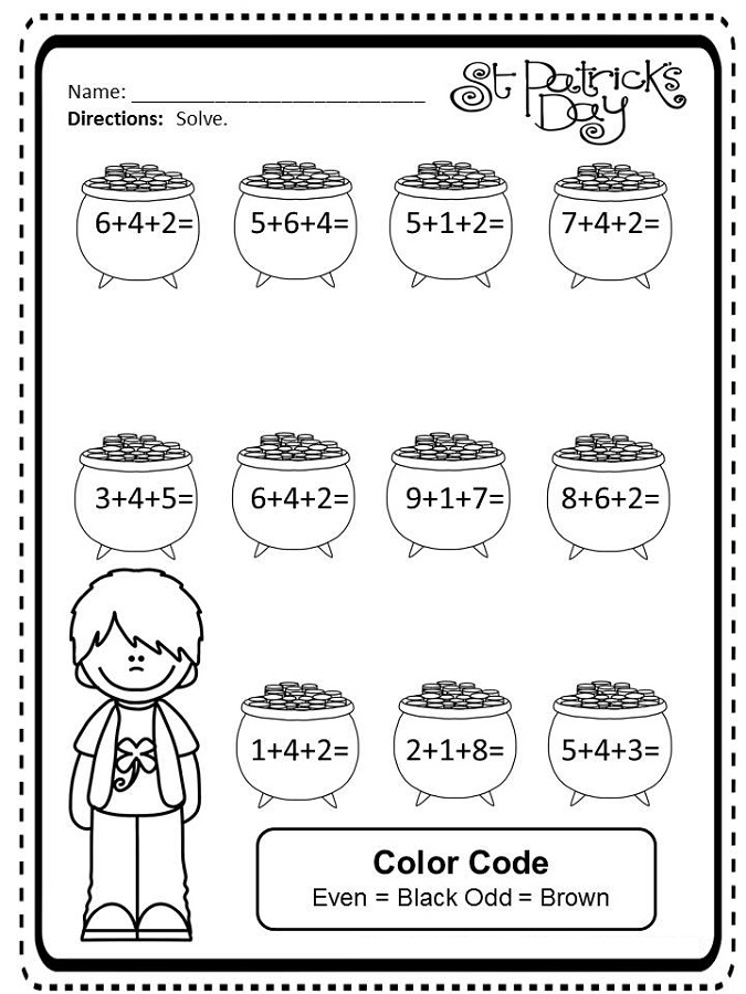 3 addends worksheet for kids