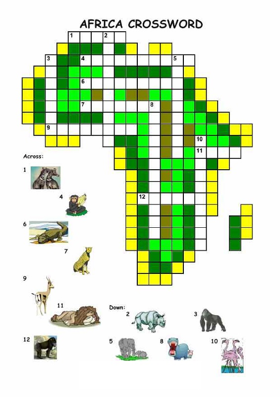 crosswords for kids africa