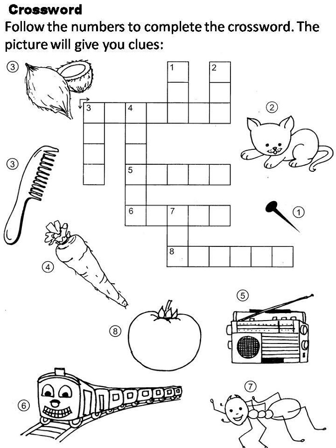 photograph about Printable Crosswords for Kids named Printable Crosswords for Little ones Recreation Shelter