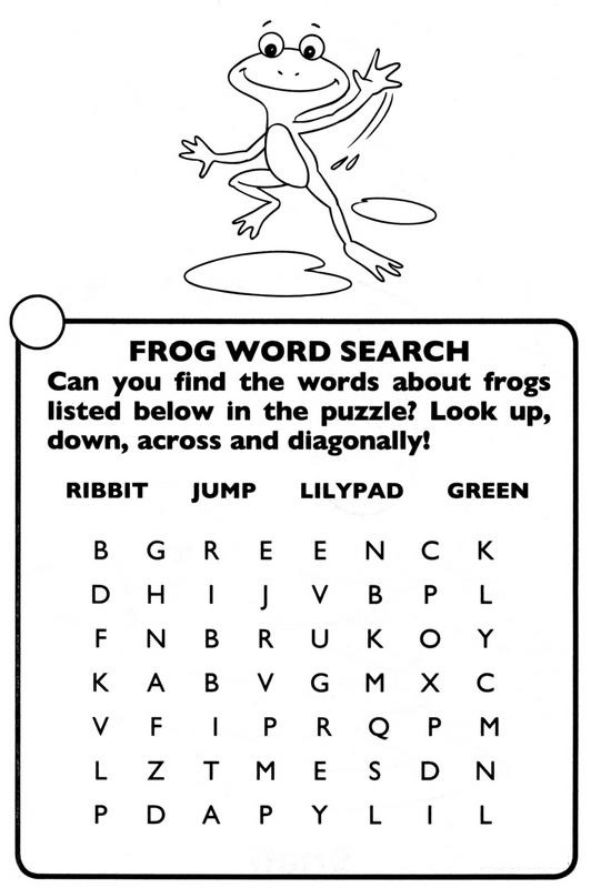 frog word search simple