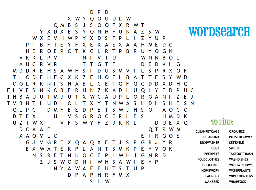 This is a graphic of Playful Fun Word Search Printable