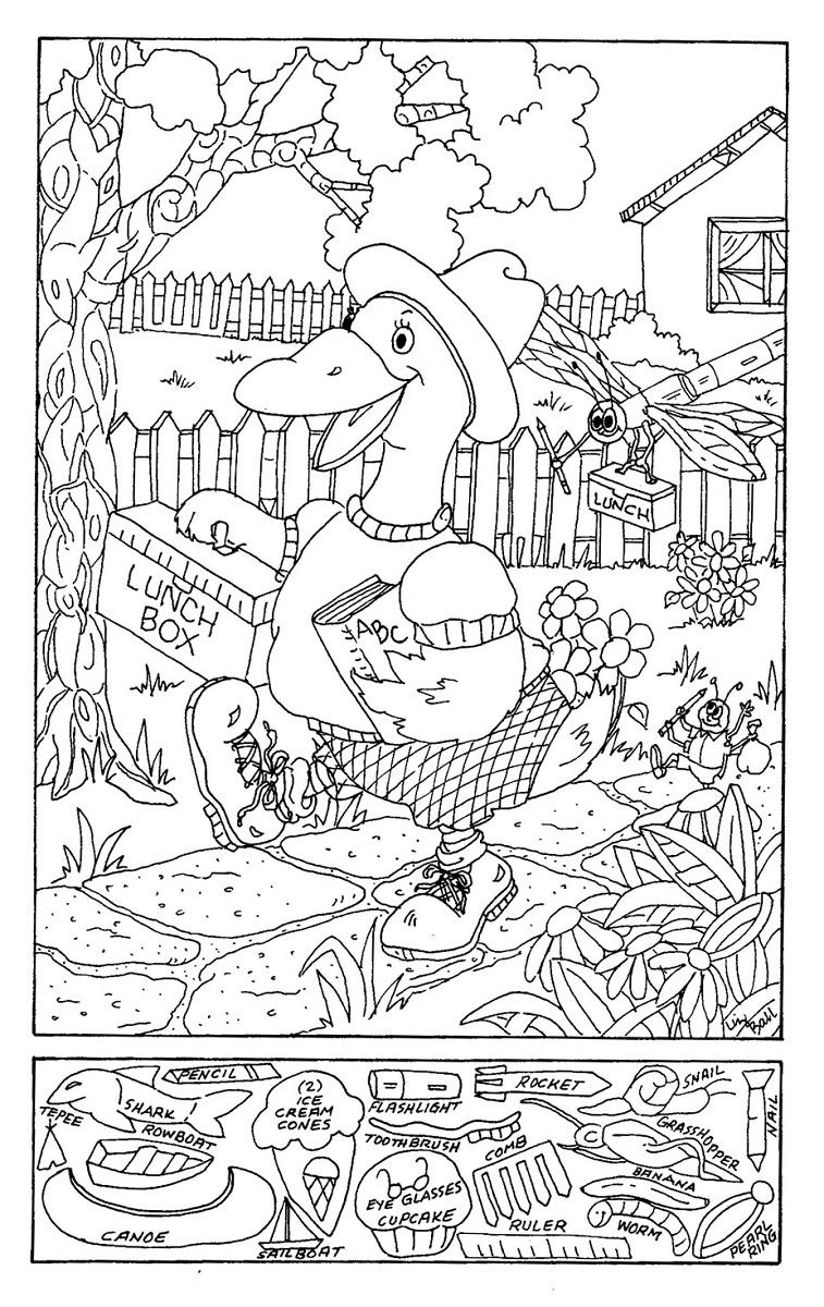 hidden picture worksheets duck