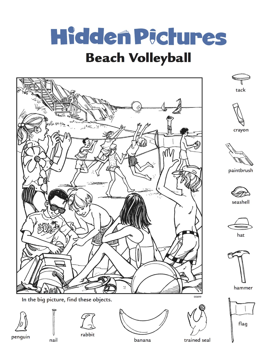 hidden picture worksheets volley