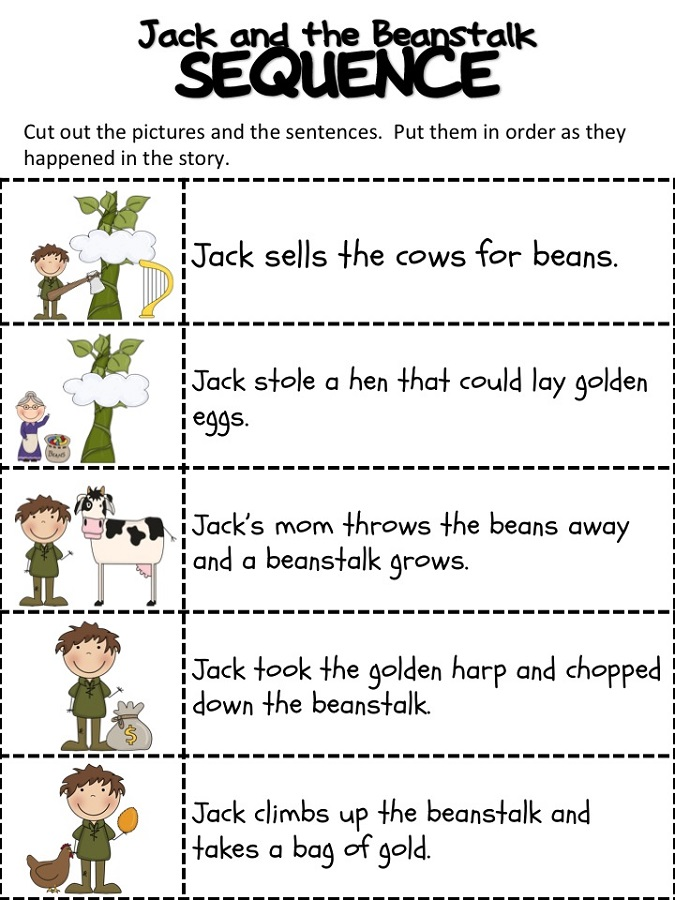 Jack and The Beanstalk Worksheets | Activity Shelter