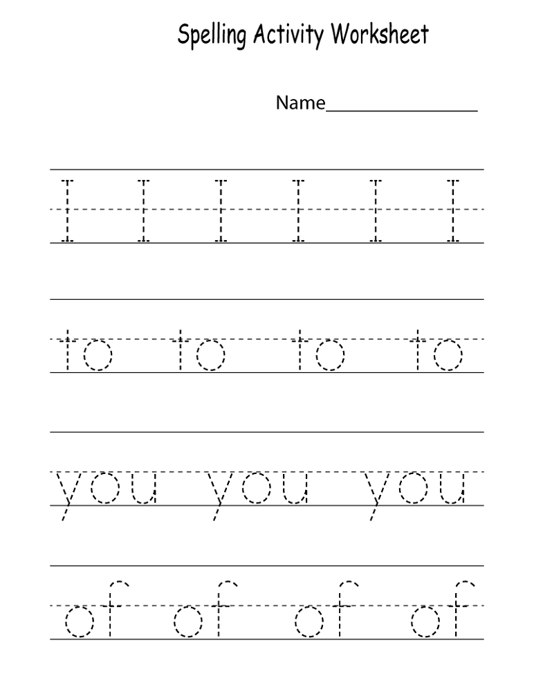 kids activity worksheets trace