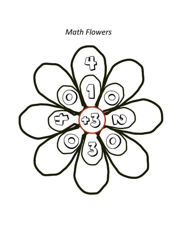 math worksheet fun flower